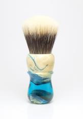 """""""Aquifer"""" Pine Burl/Resin Hybrid - 26mm Odin's Beard Fan"""