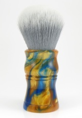"""""""Blue/Gold"""" Custom - 28mm Gray/White Synthetic"""