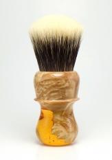 """""""Amber Burl"""" Wood/Resin Hybrid - 26mm Odin's Beard"""